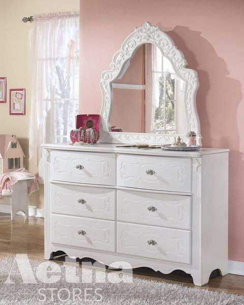 Best Signature Design Exquisite White Frame Dresser Mirror By 400 x 300