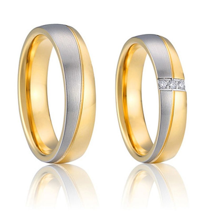 Designer wedding band engagement rings for couples pure titanium
