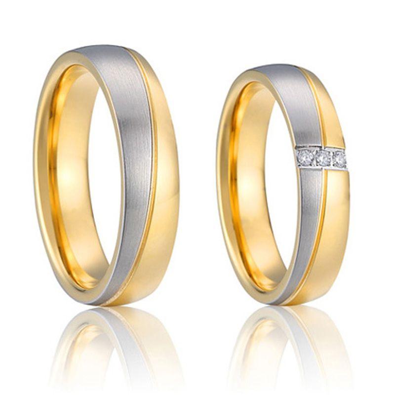 Designer wedding band engagement rings for couples pure titanium