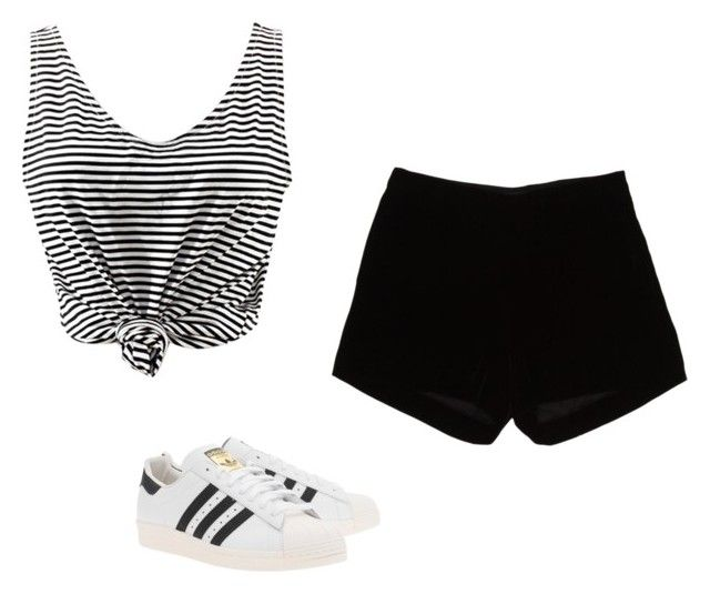 """Untitled #571"" by danieledepaula on Polyvore featuring Andrew Gn and adidas Originals"