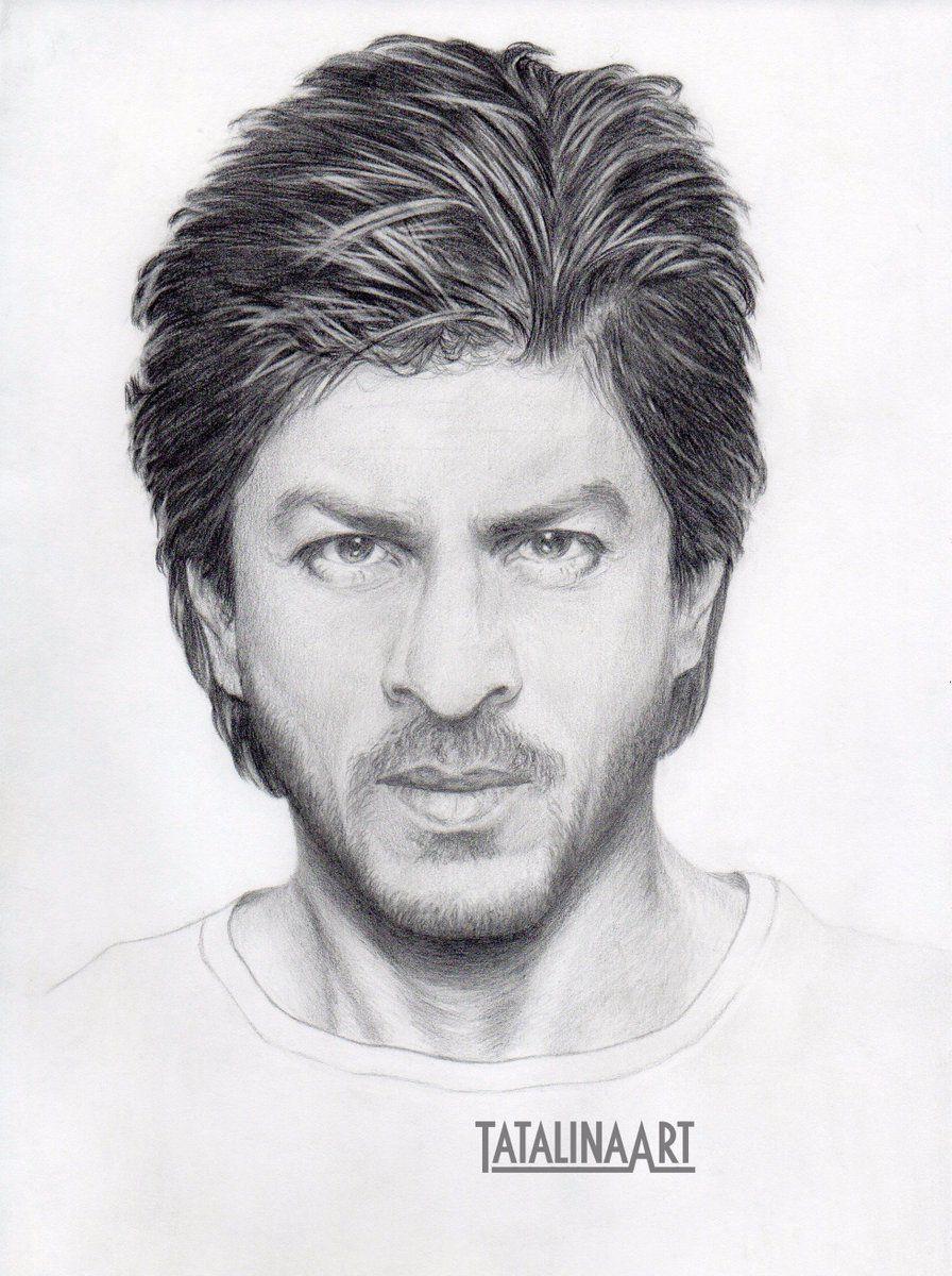Srks sketch king khan in 2019 pencil art drawings celebrity