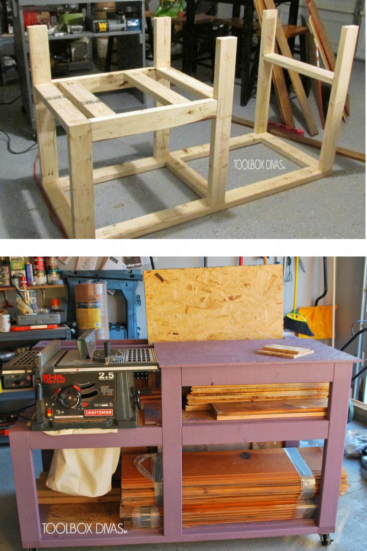 Diy Table Saw Workbench For Your Garage Storage Garage