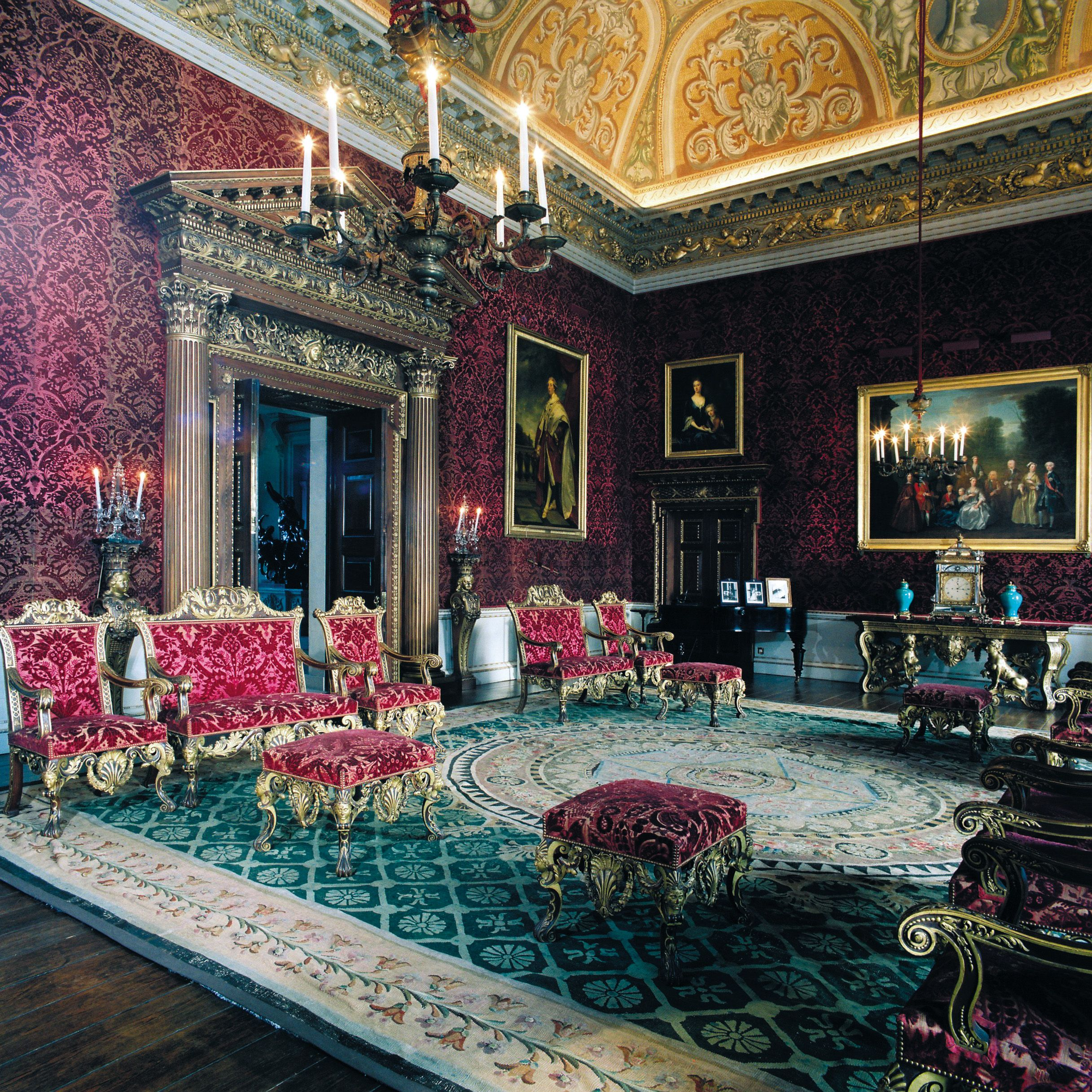 Houghton Hall Red Velvet Saloon The Term Used For The