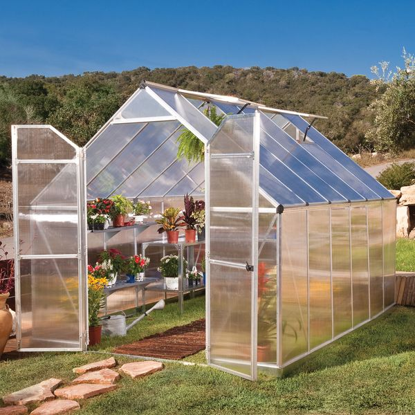 Palram Essence Silver Greenhouse - Overstock™ Shopping - Big Discounts on Greenhouses