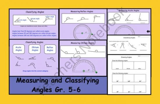 Measuring And Classifying Angles Gr 5 6 Smartboard Smart Board Teaching Education Math