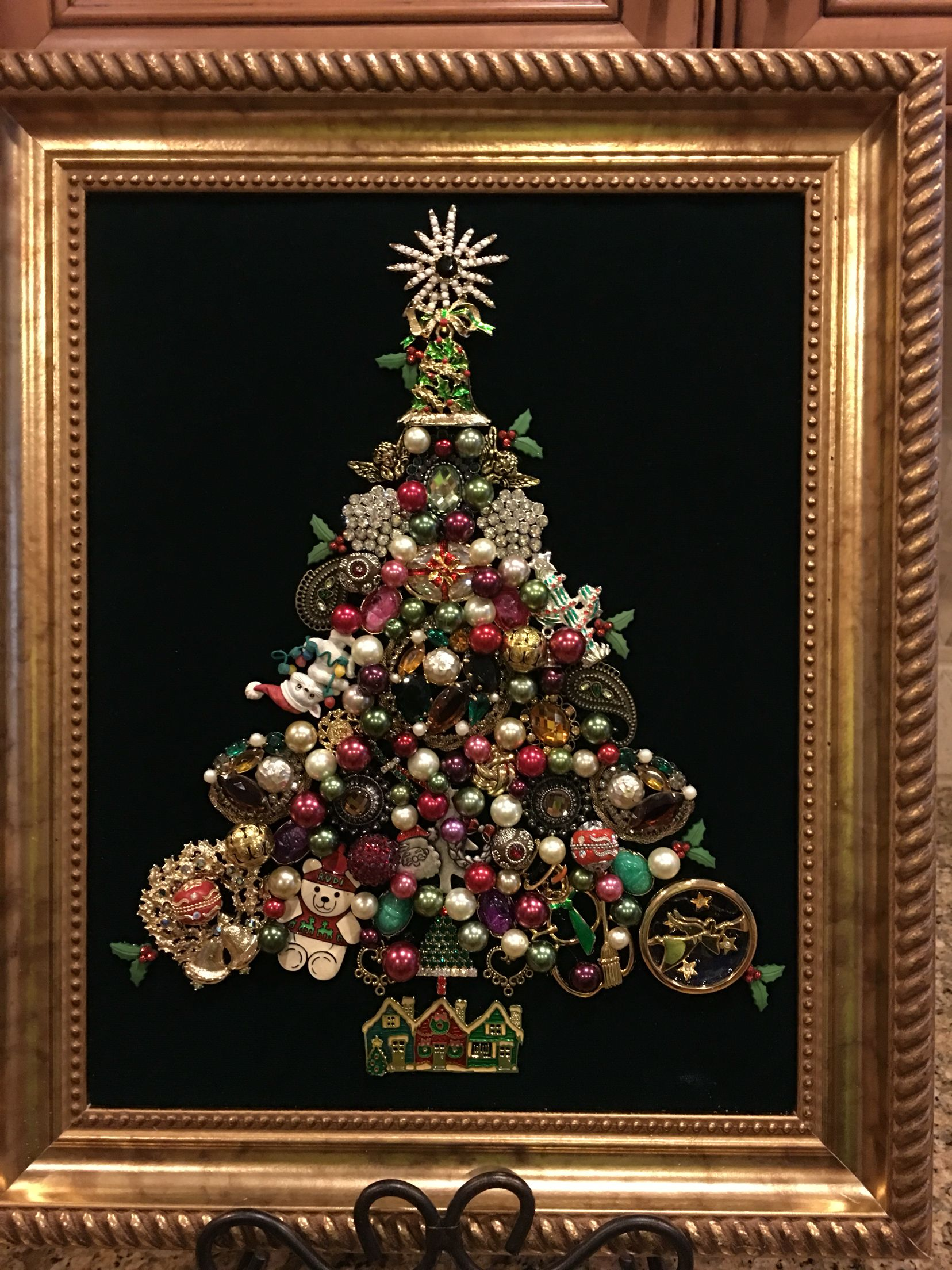 11x14 christmas tree old and new jewelry. By Beth Turchi 2016. | My ...
