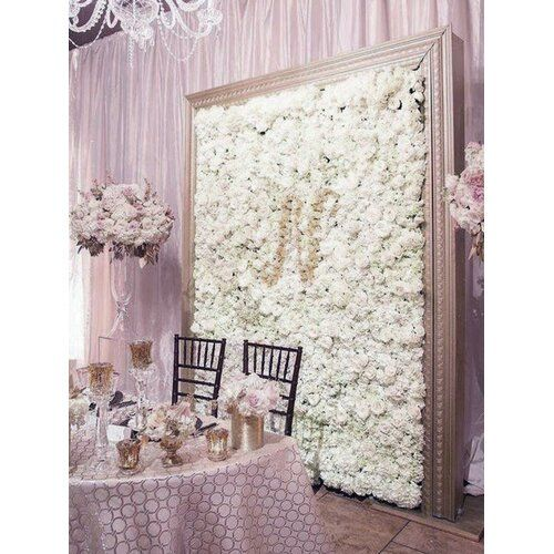Silk Hydrangea Flowers Wedding Party Wall Backdrop Panel In 2019