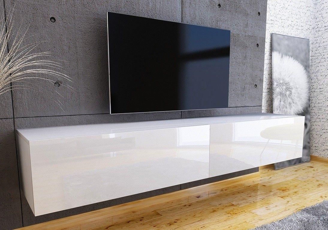 Tv Kast Wit Glans.Nasmaak Tv Meubel Geheel Hoogglans Wit 180 Cm Meubels Tv