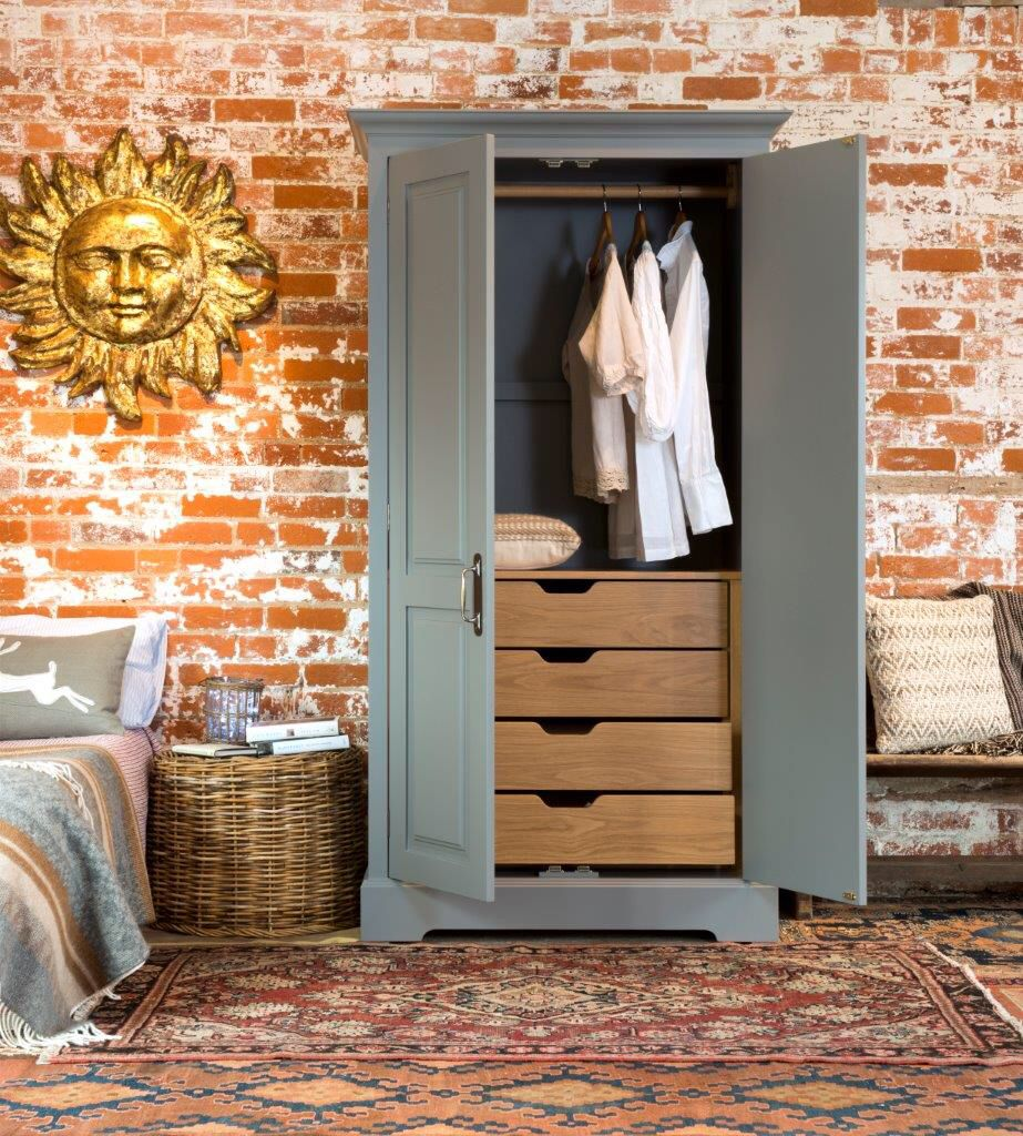 This Freestanding Wardrobe In Our Style Combines Hanging E And Drawer Storage Neatly Within One