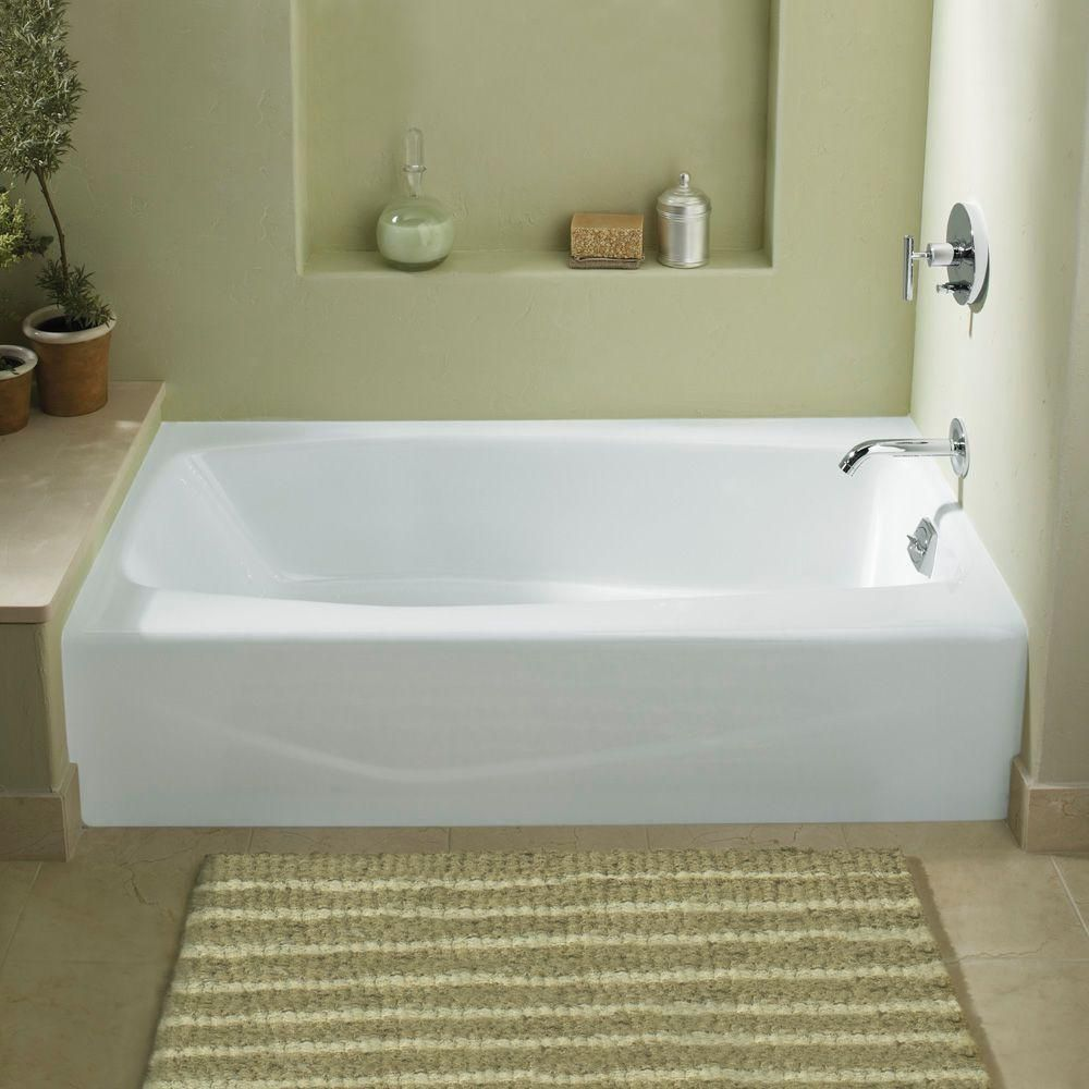 KOHLER Villager 5 Ft. Cast Iron Right Hand Drain Rectangular Farmhouse  Apron Front Non Whirlpool Bathtub In White
