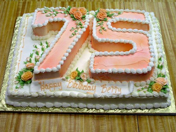 75th Birthday Cake Ideas For Mom