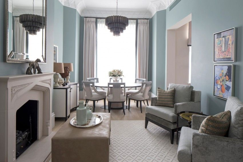 The Bromptons By Roselind Wilson Design Duck Egg Blue Living Room Blue Living Room Transitional Living Rooms