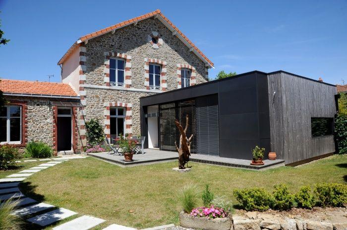 Extension et r novation d 39 une maison clisson clisson 4 exterieur pinterest extension - Renovation d une maison ...