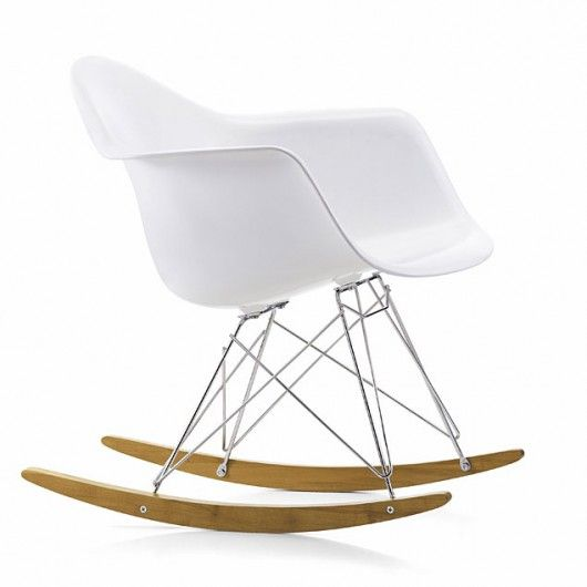 Rocking Armchair By Charles U0026 Ray Eames For Vitra In White Polypropylene.