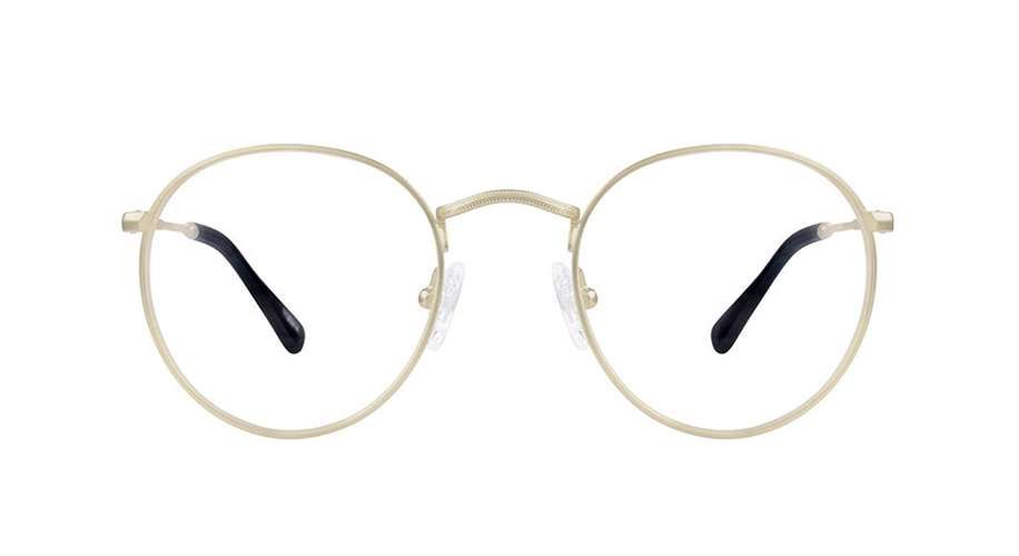 a99376a314 Zenni Sepulveda Retro Round Prescription Eyeglasses Gold Stainless ...