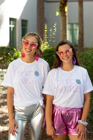 Disco Big - Disco Little Big Little Bella Canvas Short Sleeve Unisex Tee #biglittlerevealthemes