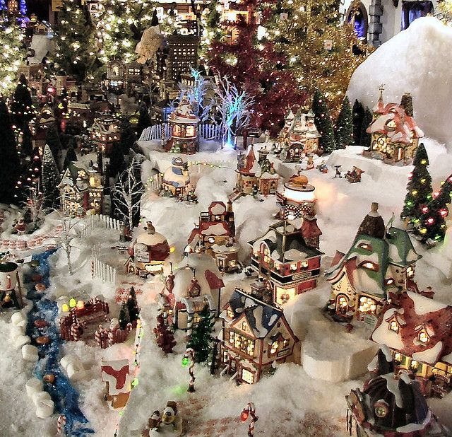 Christmas Village Decorations Ideas: Department 56 - Part Of Our 70' X 10' Display