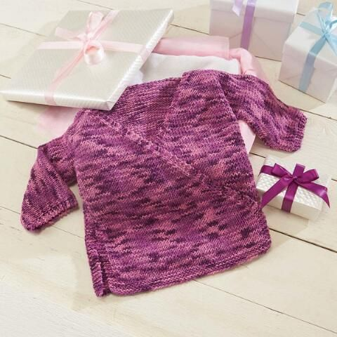 Sweet Baby Kimono Knit Pattern Subtle Color Changes In The