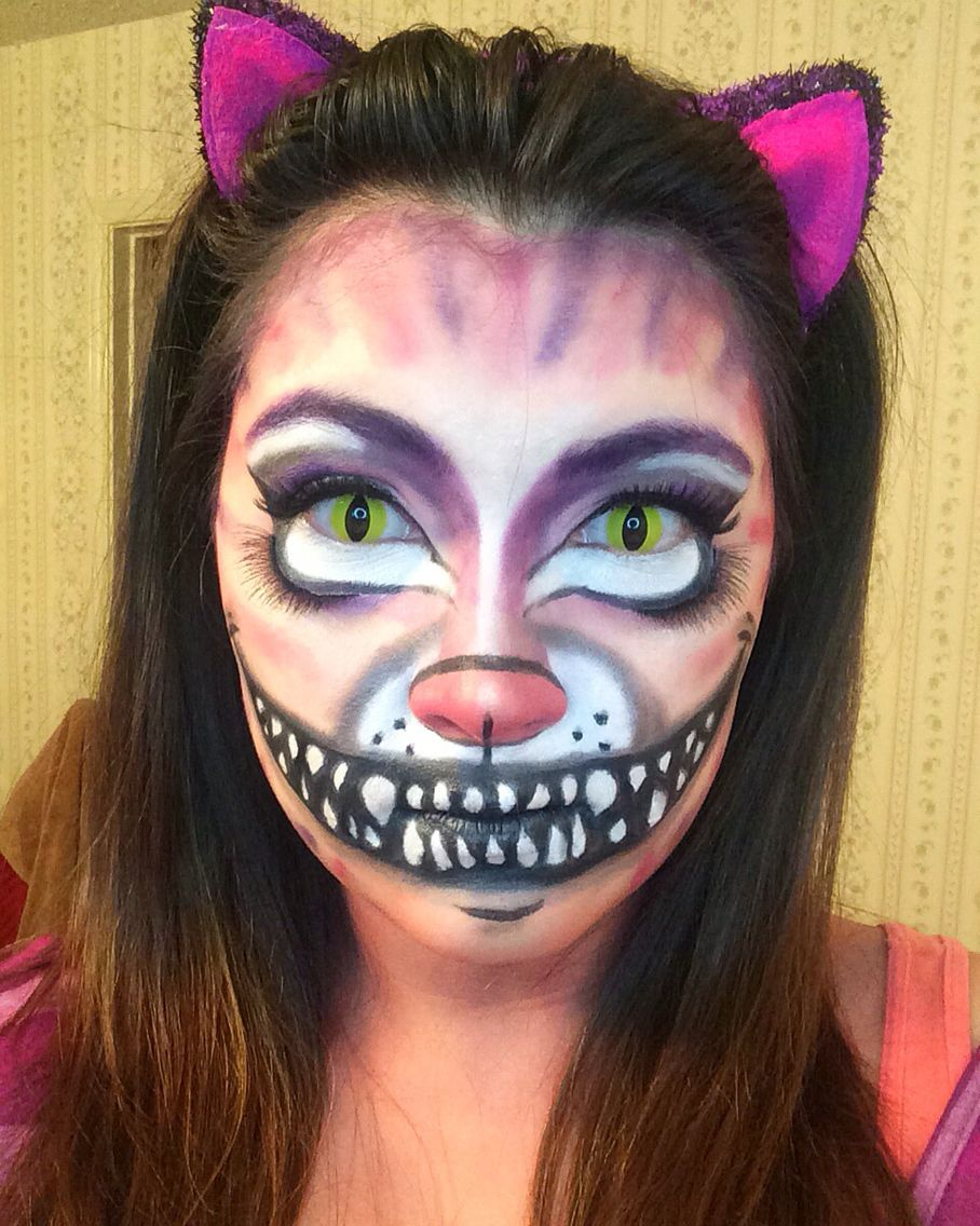 cheshire cat halloween makeup alice in wonderland | halloween