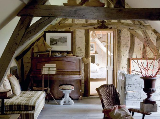 A Country House To Dream About Old Country Houses Attic Renovation Attic Remodel
