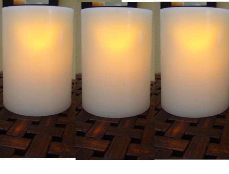 20 For 105 IVORY Wholesale Bulk FLAMELESS LED Pillar Candles Wedding Centerpiece