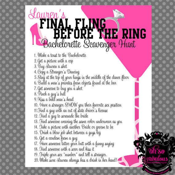 Bachelorette Party Games Are A Must And You Can Print Out Your