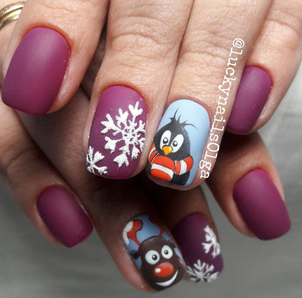 Nail Art #3775 - Best Nail Art Designs Gallery | Snow nails, Matte ...