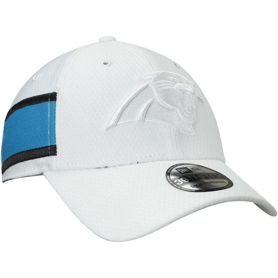 df1f744a1 Men s Carolina Panthers New Era White Kickoff 39THIRTY Flex Hat ...