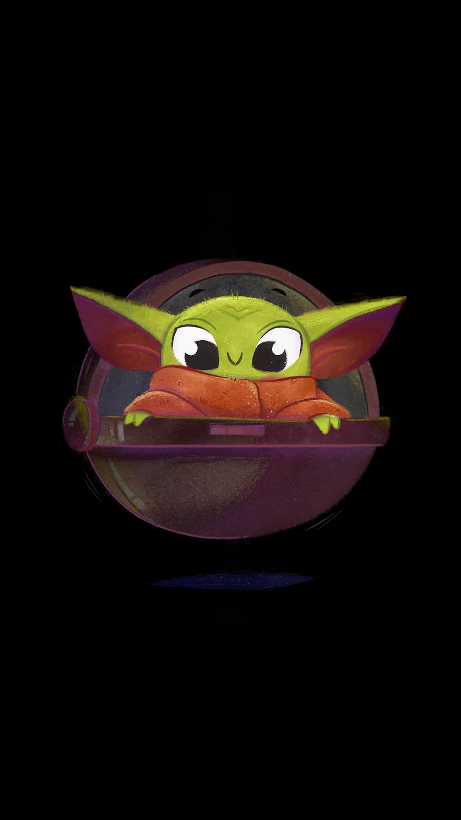 "The child ""Baby Yoda"" phone wallpaper collection Cool"