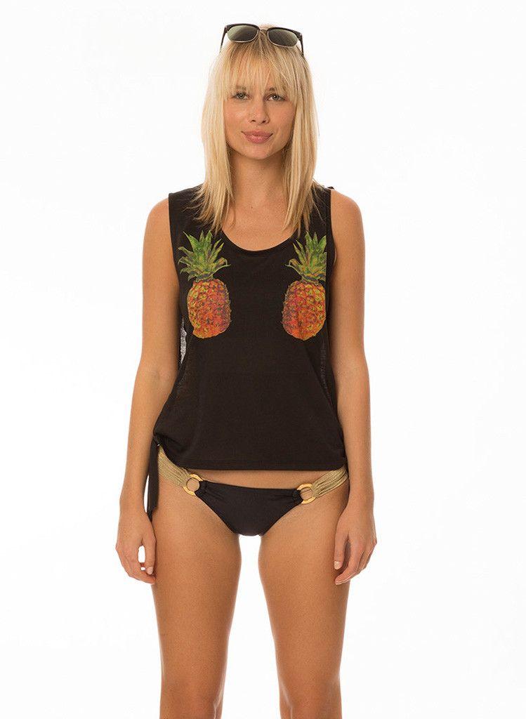 Pineapple Express Muscle Tank Top - Black