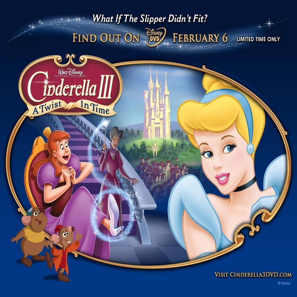 Cinderella 3 A Twist In Time Walt Disney Movies Animated Movies