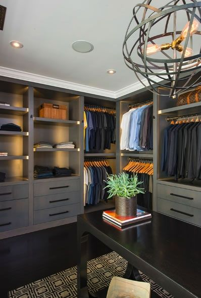Gorgeous closet for a man