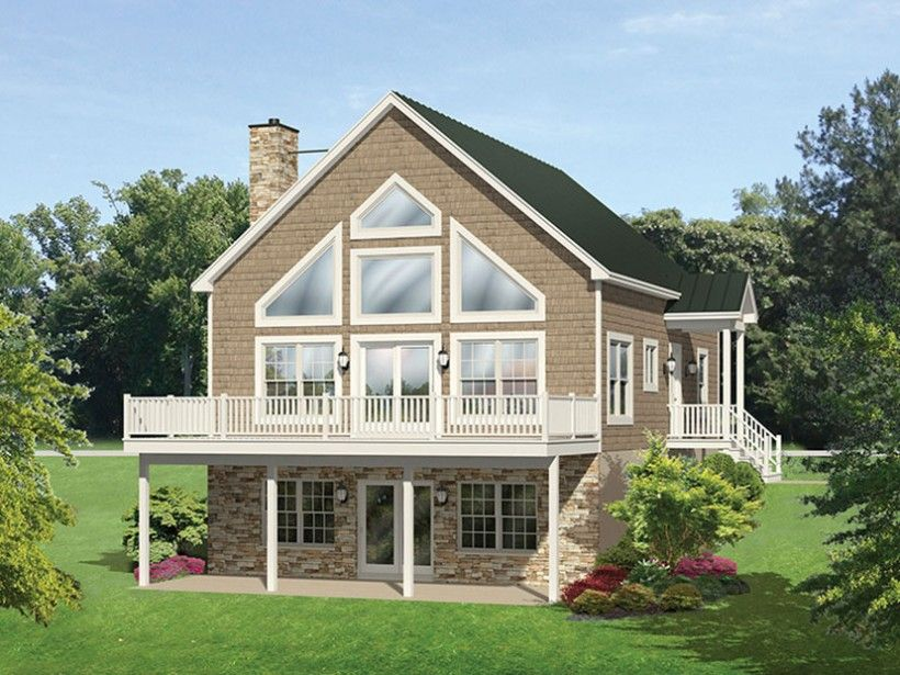 eplans a frame house plan roomy vacation cottage 1691 square feet and 4 - A Frame House Plans
