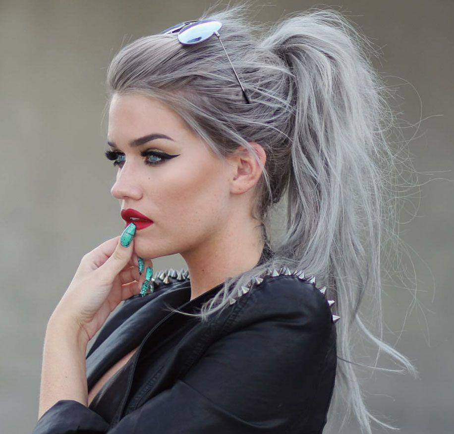 Gray hair color,gray hair color ideas,gray hair color silver,gray ...