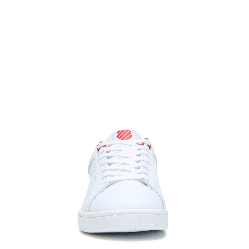 ab0f10b2a16 K-Swiss Women's Clean Court Cmf Memory Foam Sneakers (White/Red Hologram)
