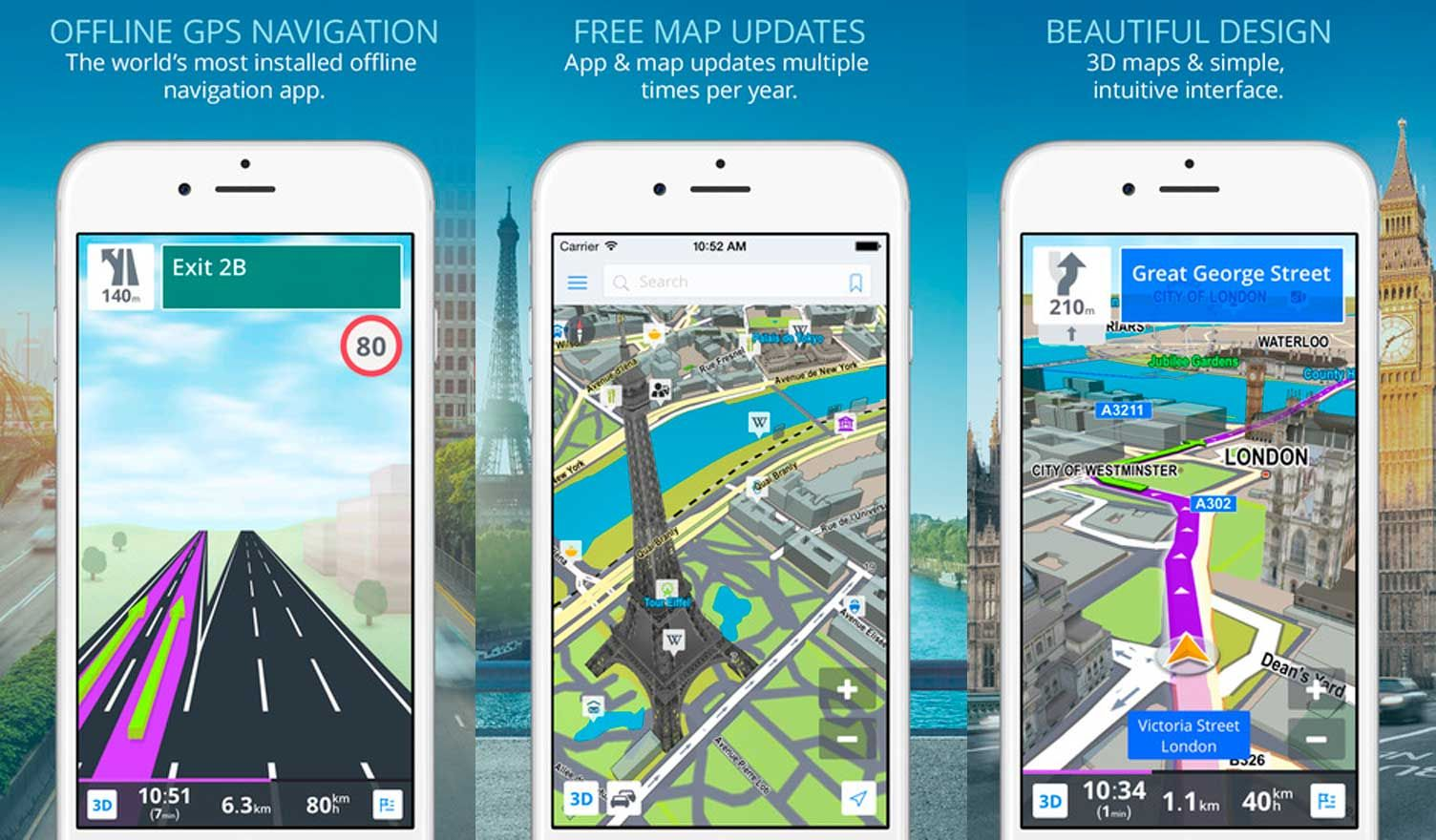 Sygic Navegador Gps Sin Internet Gratis Para Android Y Iphone Iphone Internet Android