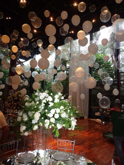 Decoraçao Com Foto ~ Decoraç u00e3o com balões brancos Blog Loja dos Noivos
