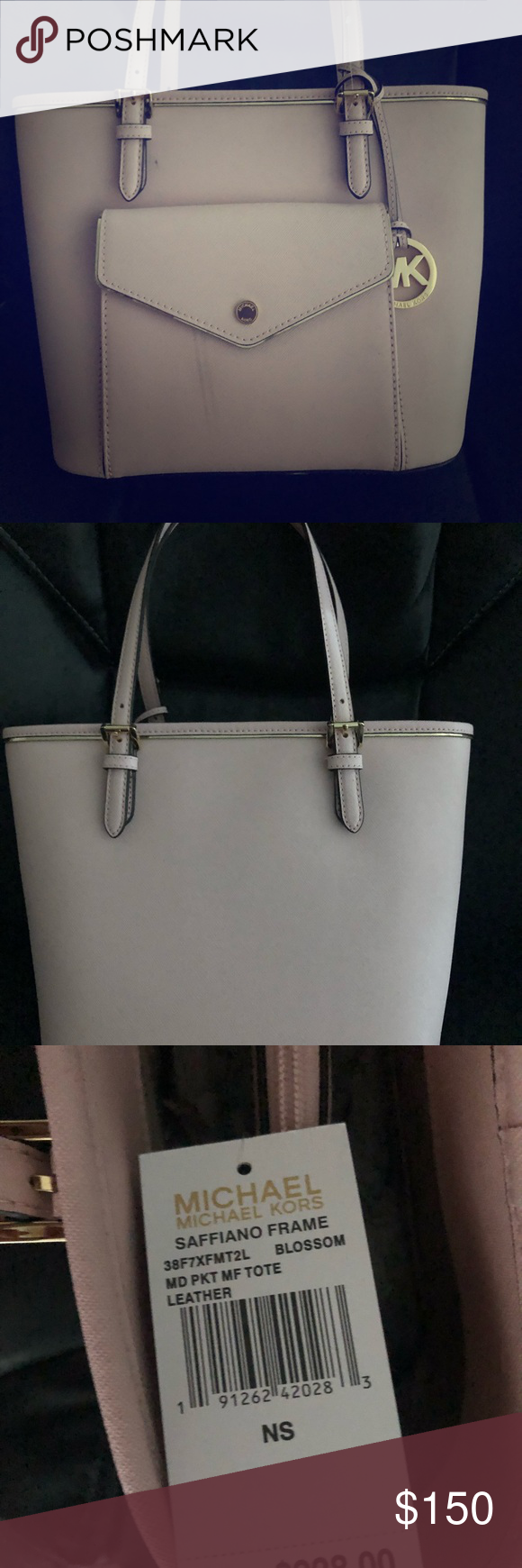 Blush brand new Michael kors purse. Brand new blush Michael Kira purse. It  has a slight stain in the front but it can easily be fix. Michael Kors Bags  ... 07901f2d3c