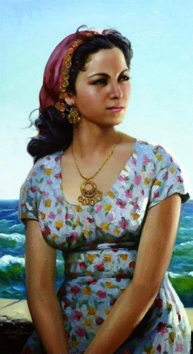 جمال النساء في لوحات فنية رائعة 2 Beautiful Paintings Women Egyptian Actress Egyptian Beauty Egyptian Painting