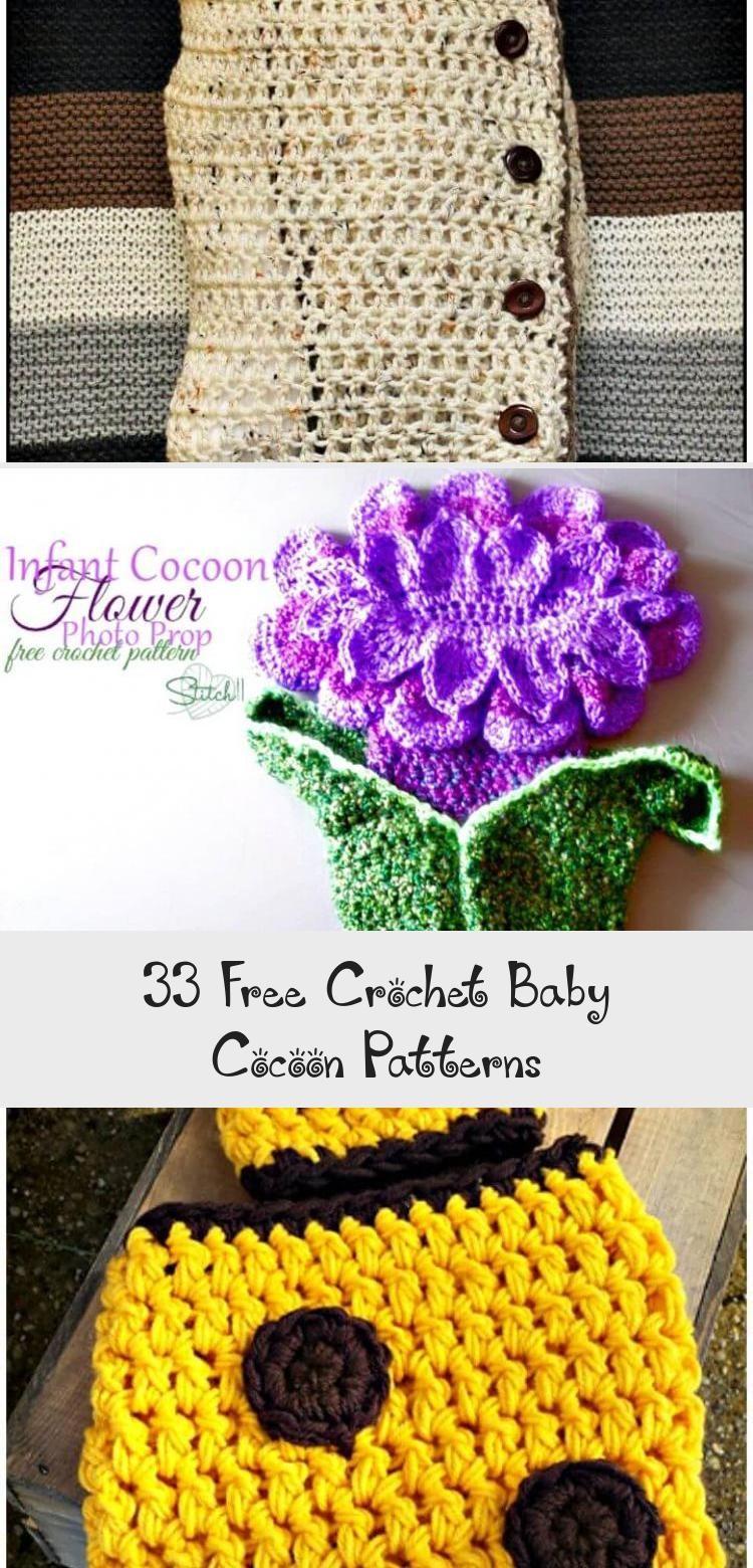 33 Free Crochet Baby Cocoon Patterns - DIY & Crafts #BabystuffCarSeats #BabystuffChecklist #AwesomeBabystuff #NeatBabystuff #BabystuffWinter #crochetbabycocoon