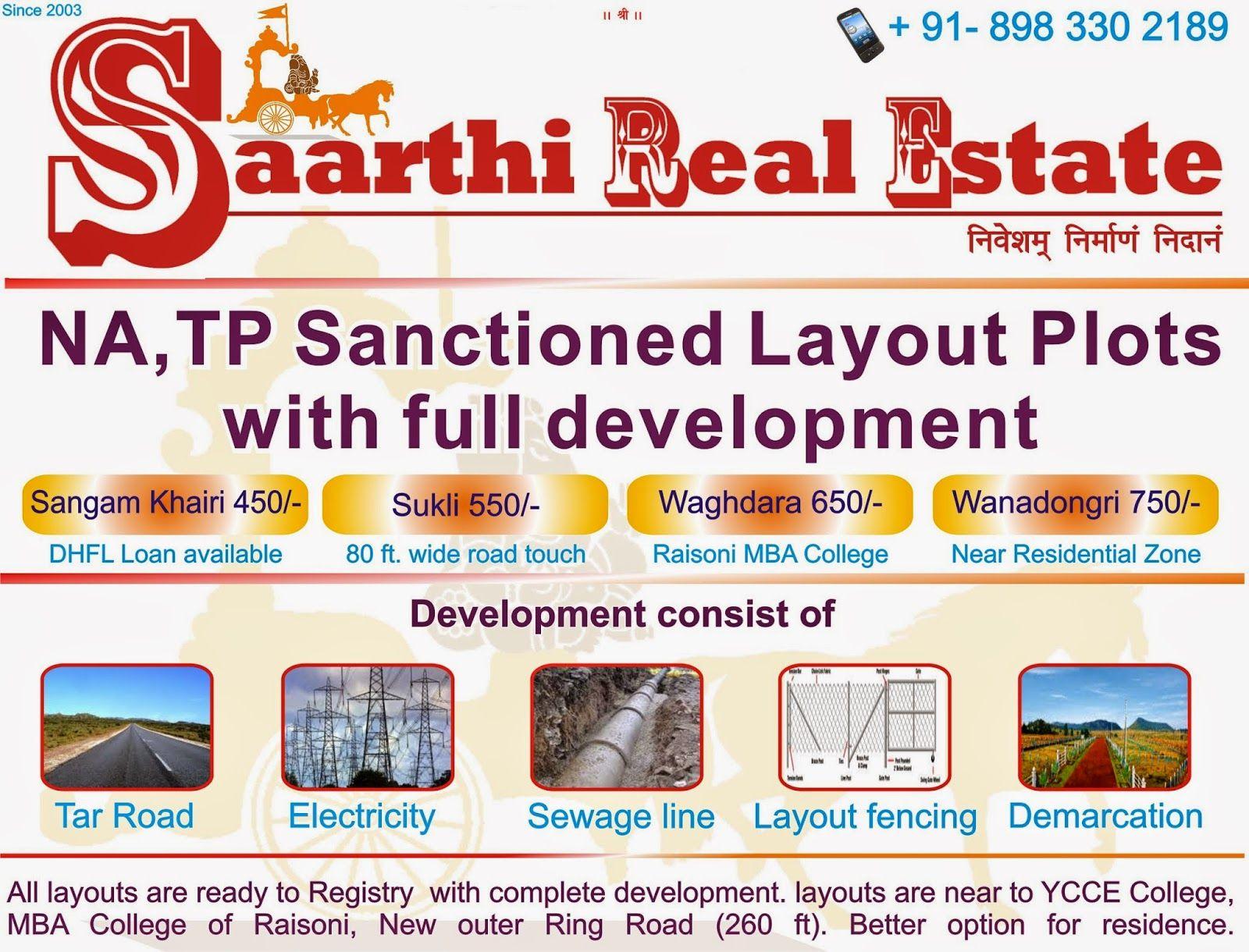 Saarthi Real Estate Nagpur Clear Title Rl Plots For Sale Plots For Sale Real Estate Best Investments