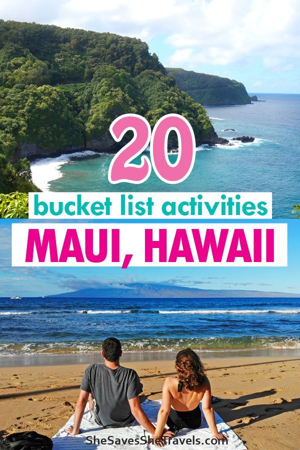 Best Maui activities you absolutely have to do. Best part is these are all things you can do in Maui on a budget! Exactly where to go for cheap or free things to do in Maui. Hiking waterfalls in Maui, Road to Hana stops, finding hidden beaches and swimming with sea turtles. Here are 20 incredible bucket list activities in Hawaii. #maui #hawaii #island #adventure #travel