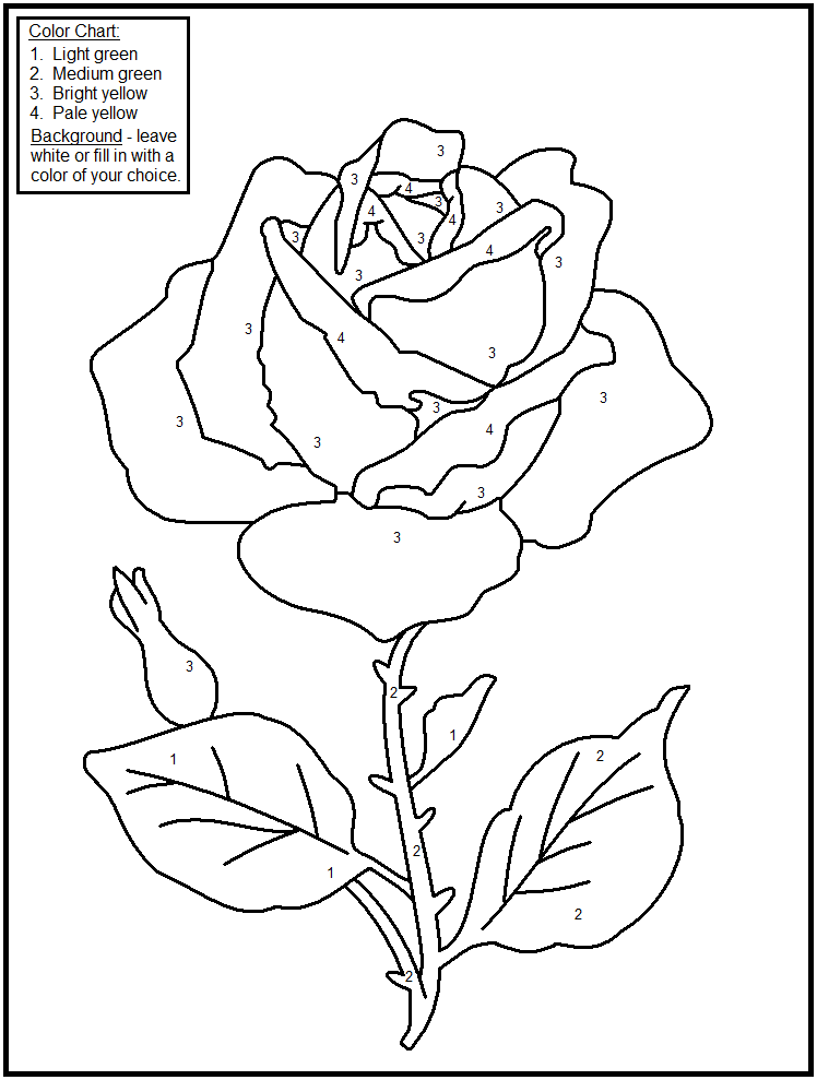 Valentines Color by Number Coloring pages for kids