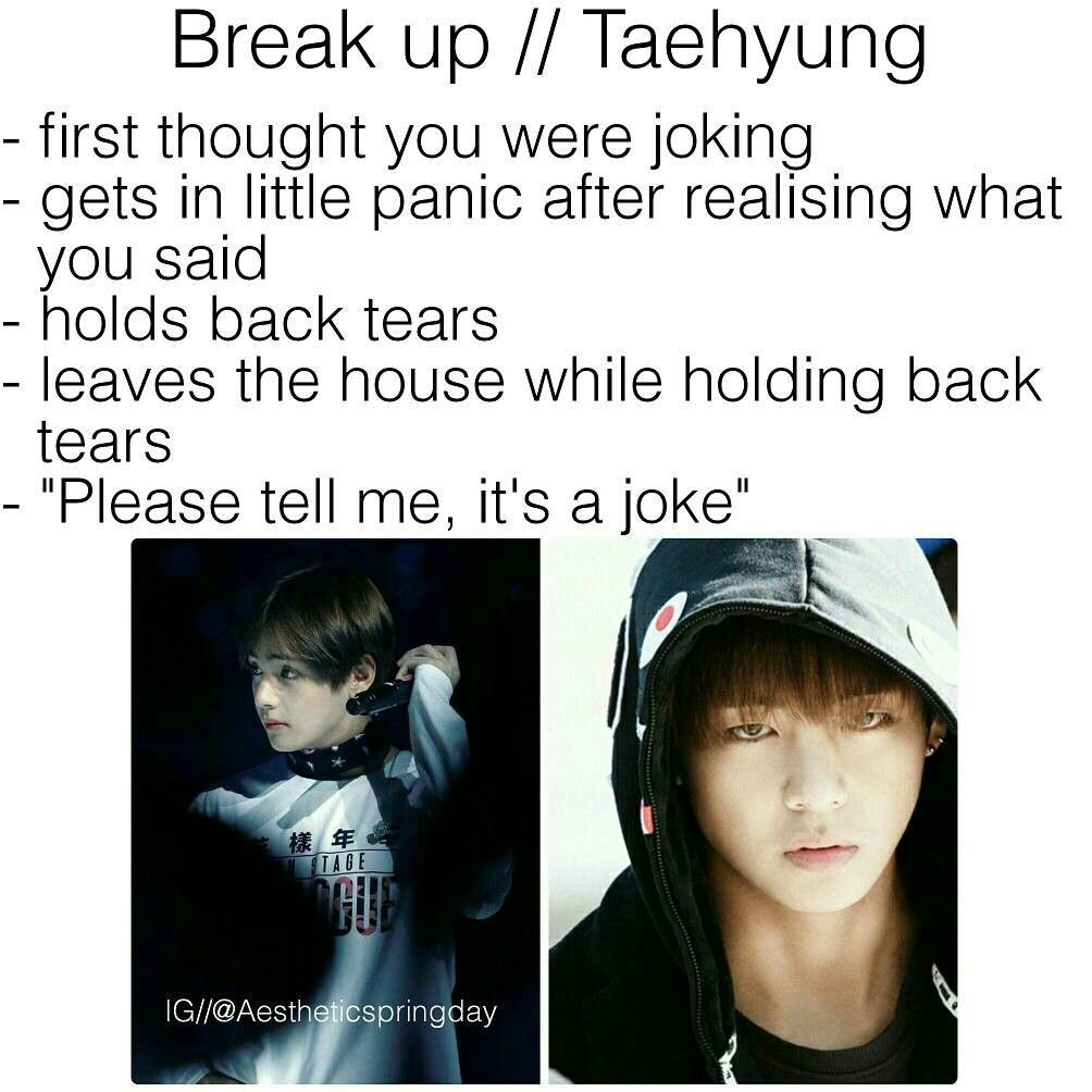 Bts Kim Taehyung V Imagine Break Up Bts Imagine Bts Taehyung