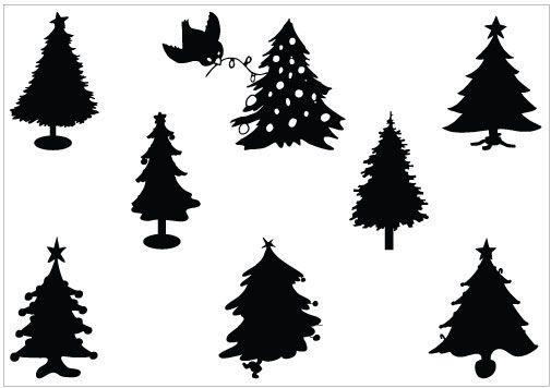 Pin By Thomson Joseph On Graphics Christmas Tree Silhouette Silhouette Clip Art Silhouette Template