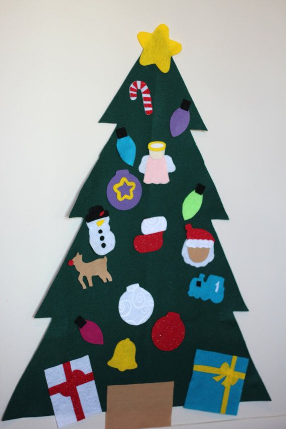 Large 20 Piece Children\'s Felt Christmas Tree with by craftEdaze ...