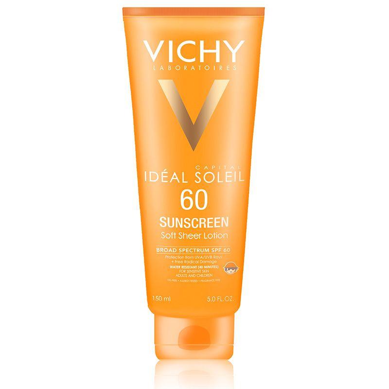 Vichy Capital Soleil Spf 60 Soft Sheer Sunscreen Lotion Sunscreen Lotion Body Sunscreen Face Sunscreen