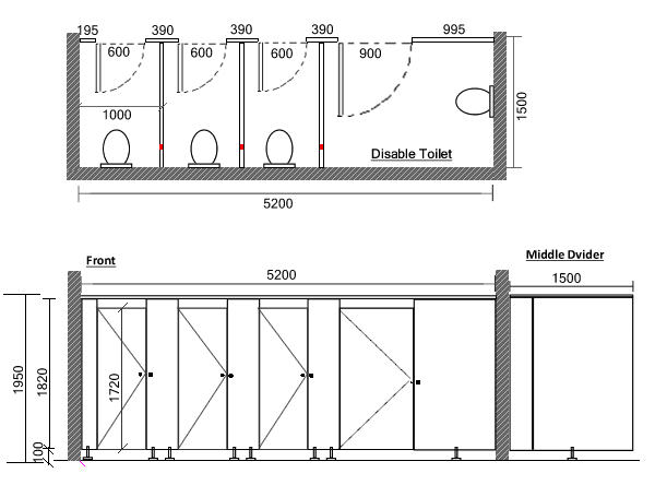 Standard Door Height Malaysia Google Search Toilet Cubicle Toilet Plan Cubicle Design