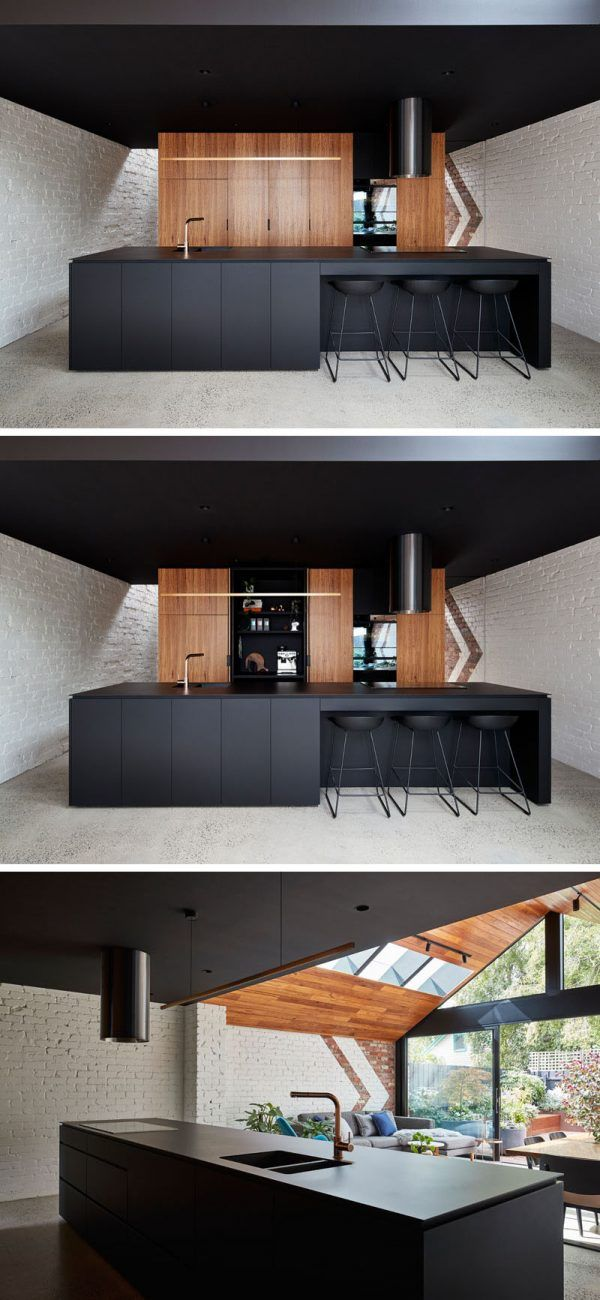 Awesome Kitchen With Black Shades Will Give You Calm Peaceful Feel. Avoid You From  Strees After Full Day Of Work. Also, Black Kitchen Is Not Easely To Look  Dirty.