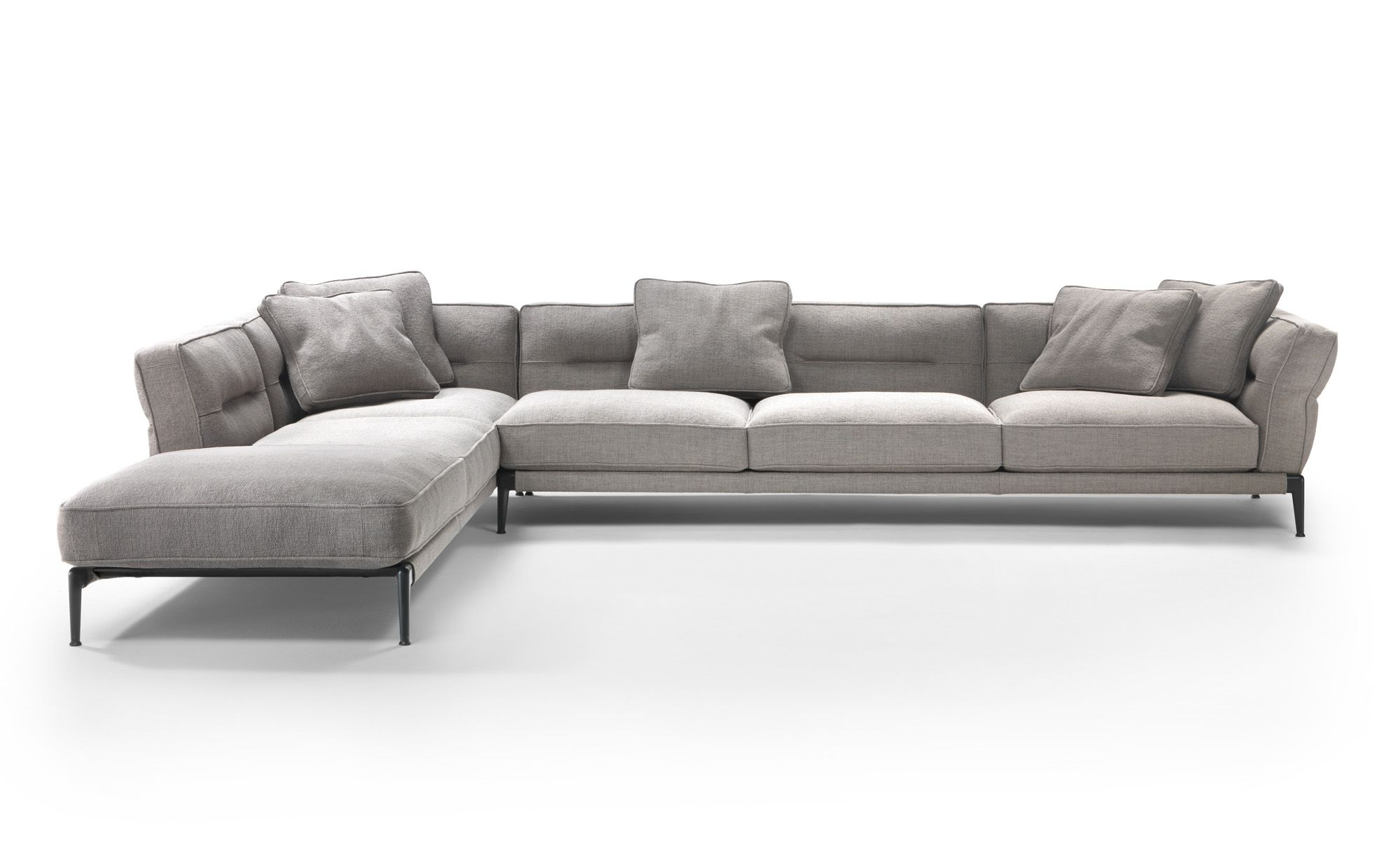 A Linear Component Sofa With A Clean Contemporary Look The Light